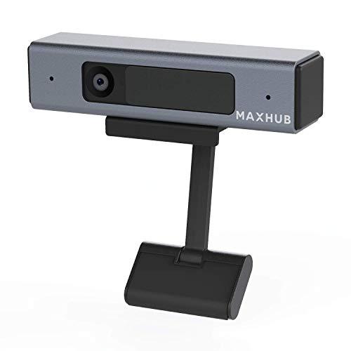 1080p Webcam con micrófono y Cubierta de privacidad, cámara Web MAXHUB, transmisión en línea, compatibles con PC Mac portátil de Escritorio para Zoom/Skype/Teams/Microsoft Duo