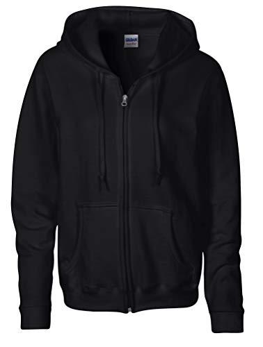 Gildan Damen Sweatshirt Gr. Small, Schwarz - Schwarz