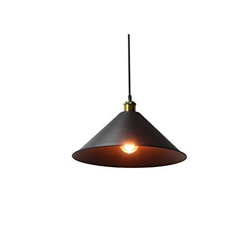 Wlnnes Retro iluminación Pendiente rústico de la lámpara del Vintage Que cuelgan del Techo del Accesorio Ligero de la lámpara 1-Light Industrial Hoteles Los Pasillo Tiendas Cafe Bar