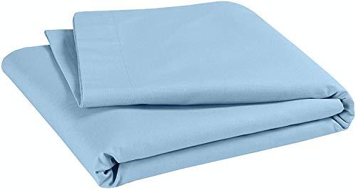 P'tit Basile lakens voor baby's, peuters, 118 x 180 cm, verschillende kleuren, katoen, 100% van biologische teelt, 57 draden/cm2, hoge kwaliteit 118x180 cm Hemelsblauw
