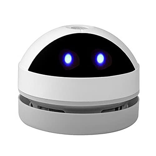 Aspiradora de Mesa, Mini Limpiador de Polvo, Inalámbrico y USB Recargable, Giratorio de 360°,Adecuado para Limpiar virutas de lápiz, virutas de Goma, virutas de Papel,virutas de Galletas(Negro)