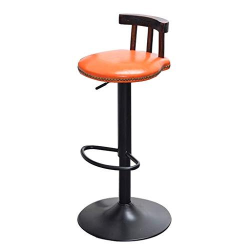CONGMING-Tabouret Bar Taburete De Bar Chaise Pivotante De Style Rétro En Métal Industriel Tabouret De Bar Cuisine Cuisine Petit-déjeuner Chaise Ronde Chaise Bar (Color : A)