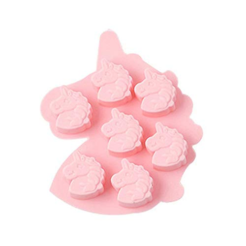 KTENME Pferdekopf-Form, Backform, Pfannkuchenformen, Backform, Gummiformen, Schokoladenformen, umweltfreundlich, antihaftbeschichtet, Formen