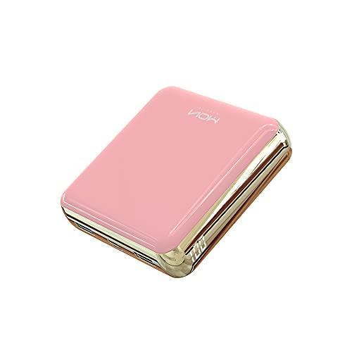 MOXNICE Power Bank 20000mAh Powerbank, Pacco Batteria Ultra Compatto Caricatore Portatile con Doppia Uscita per Smartphone e Tablet (Rosa)