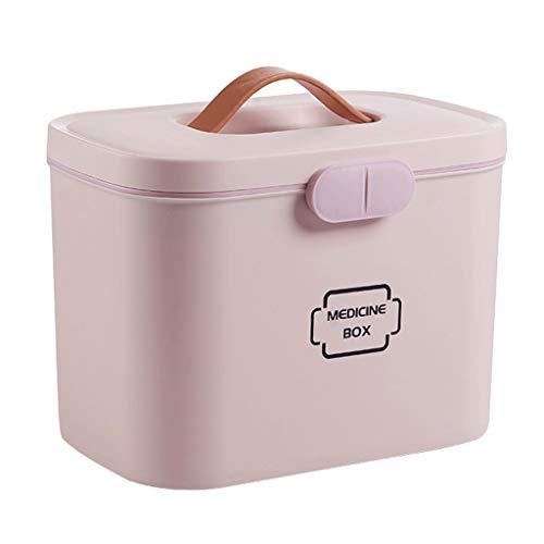 Leileixiao Caja de píldoras de almacenamiento de medicina PP caja de medicina para el hogar 28,5 x 18 x 21 cm (color: rosa)