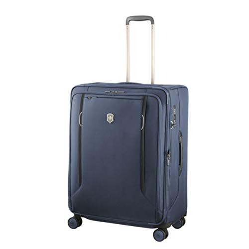 Save %39 Now! Victorinox WT 6.0 Softside Spinner Luggage, Blue, Checked-Large (27)