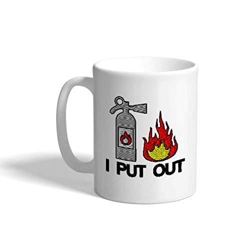 Aangepaste koffiemok 11 Oz brandblusser B keramische theekop thee of koffiemok