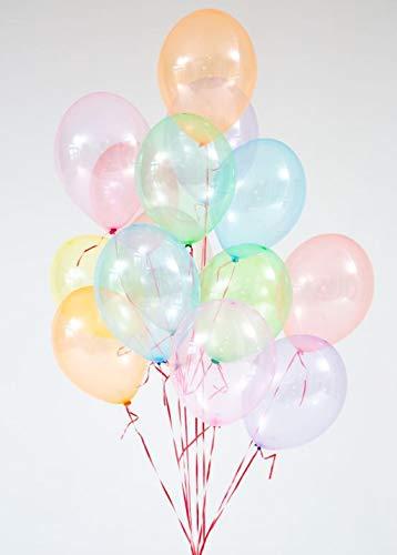 Ballonheld 25 XL Seifenblasen Luftballons kristall, 8, Premiumqualität Ø ca. 33cm, Kein Plastik, biologisch abbaubar