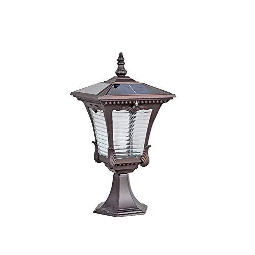 Pumnple Super helle LED-Solarlicht Wasserdichten Outdoor-Garten Säule Leuchten Außenwand Pfosten Laterne Europäische Patio Sonnensäule Rasen Stehleuchte Intelligent Light Control IP55