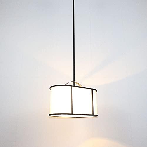 NAMFHZW E27 1 luz Tambor Blanco Pantalla de tela Lámpara de techo Plug-in Lámpara de techo con cable regulable Interruptor ON/OFF Lámpara para Dormitorio Balcón ilumi
