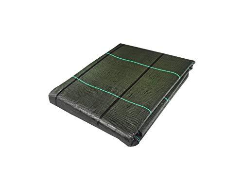 Seinec - Rete anti-erbacce, colore: verde, 20 m2 (2 x 10 m), resistente agli strappi, con protezione UV per il controllo della valigia in giardino e orti ecologici, in polipropilene (PP)