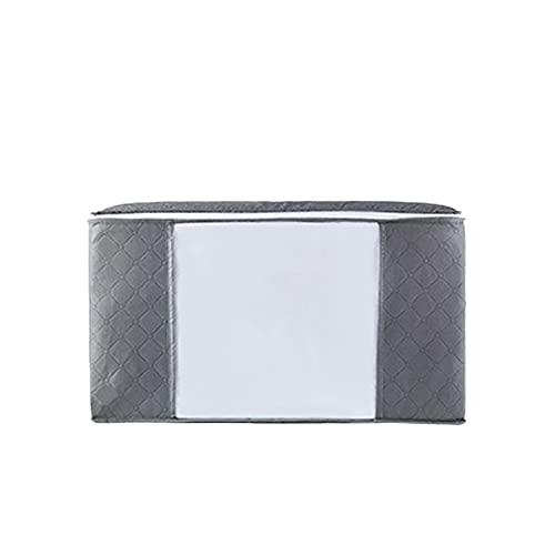 Btlesa Bolsa de almacenamiento con cremallera, bolsa de almacenamiento plegable para ropa, con ventana transparente, multifuncional, gran capacidad, a prueba de polvo, organizador de armario