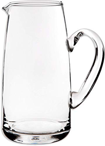 Glass Water Pitcher with Spout – 53 OZ. Beverage Pitcher By Gift Essentials – Serving Carafe for Water, Juice, Sangria and Cocktails – Crystal Clear Glass Pitcher..