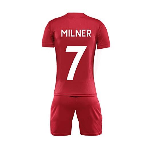 GAOZHENZHEN James Milner # 7 de Cuello Redondo de la Camiseta de Manga Corta Jersey Conjunto de los Hombres de Fútbol Fan de (Color : Red, Size : 2XL)