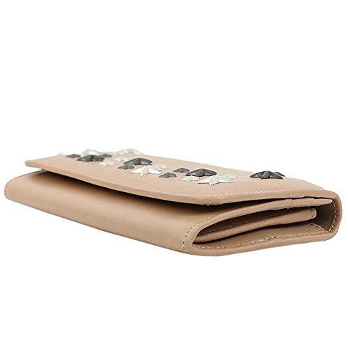 [アウトレット品][ジミーチュウ]二つ折り長財布スタースタッズ星バレットピンクロングフラップウォレットニノNINOレディース本革J000108501001[並行輸入品]
