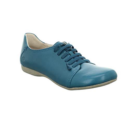 Josef Seibel Damen Schnürhalbschuhe Fiona 68, Frauen sportlicher Schnürer, leger schnürschuh strassenschuh Sneaker schnürer,blau,37 EU / 4 UK
