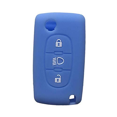 Autosleutel cover, voor C4 Picasso siliconen basisolie Llave Citroen C4 C1 key cover, voor Citroen Berlingo C4 C3 C5 X7 bescherming klep