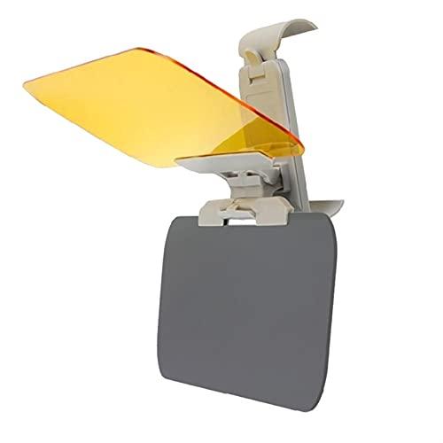 LOVELIN Lovelin17 Coche Sun Visor Goggle Car Day and Night Anti-UV Anti-Dazzle Bloque de Sol Anti-Dazzle Sunshade giratable Clear Driving Mirror 2 en 1 (Color : Yellow)