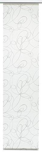Gardinia Flächenvorhang Stoff waschbar 119 Curling weiß/grau 60 x 245 cm