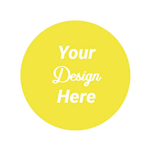 120 Labels Personalized and Customizable Round Custom Stickers Waterproof Vinyl 2x2 inches Any Logo Text Image Labels for Cafe Boutique Packaging Handmade Promotional Items
