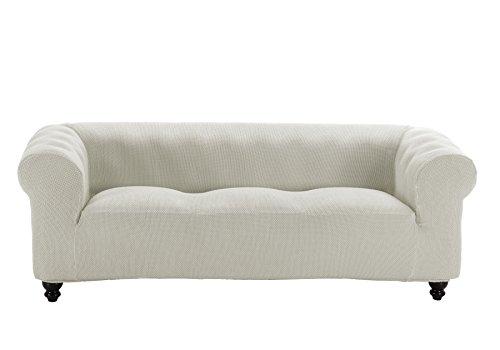 Martina Home Funda Multiélastica para sofá Chester modelo Chipre , Tela, 3 Plazas - color Marfil