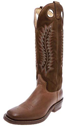 Sendra Boots Herren Stiefel 17617 Westernreitstiefel Buckaroo Lederstiefel Braun 43 EU