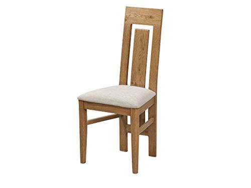 Caprice Eiche massiv Gepolsterte Esszimmerstuhl Stuhl–Eiche rustikal–Finish: Eiche rustikal–Esszimmer Möbel