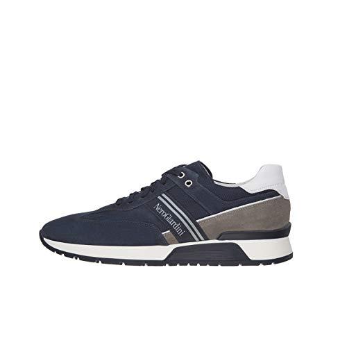 Nero Giardini E001484U Sneakers Uomo in Pelle, Camoscio E Tela - Incanto 40 EU