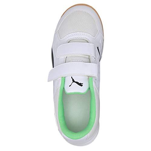 PUMA Unisex Children's Auriz V Jr Football Boots White Size: 4.5 UK