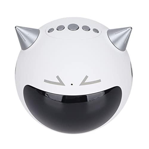 Altavoz De Reloj Bluetooth, Altavoz De Audio Bluetooth con Karaoke/Pantalla LED/Función Extendida De Tarjeta De Memoria, Reverberación del Micrófono De Reproducción(Blanco)