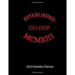 "Established MCMXIII OO-OOP 2019 Weekly Planner Delta Sigma Theta Gift Calendar - Home School Office  Stationery - 52 Pages - 8.5"" x 11"""