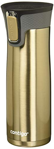 Contigo AUTOSEAL West Loop Vaccuum-Insulated Stainless Steel Travel Mug, 20 oz, Latte