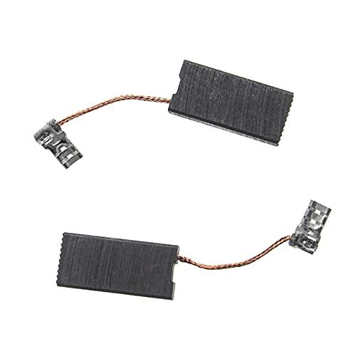 vhbw 2x escobilla carbono motor carbones 27 x 13 x 6,3 mm compatible con Makita HM1101C, HM1111C, HM1203C, HM1213C, HM1214C herramientas eléctricas