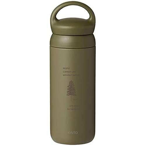 [名入れ無料] KINTO キントー デイオフタンブラー 水筒 500ml DAY OFF TUMBLER 刻印 ギフト プレゼント ボトル マグ タンブラー (カーキ, ネイチャー)