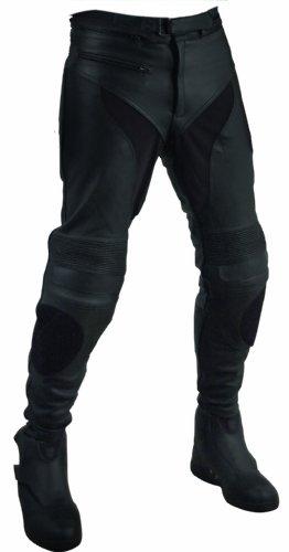 Roleff Racewear Lederhose Unisex, Schwarz, Größe 42