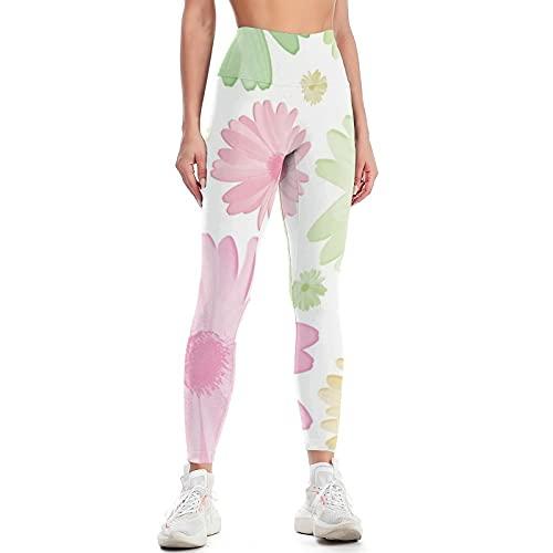 QTJY Pantalones de Yoga con Levantamiento de Cadera de Cintura Alta para Mujer, Pantalones de Ejercicio Push-up para Gimnasio, Mallas elásticas para Celulitis, Pantalones para Correr H L