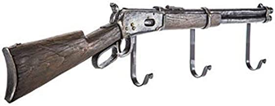 gun rack hangers hooks wall mount shotgun rifle western railroad decor black
