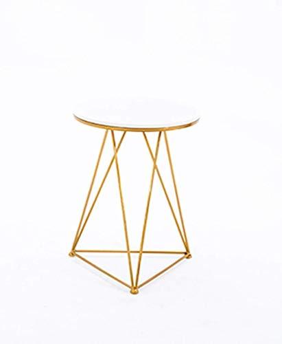 WYQ - Mesa de centro alta, mesa redonda pequeña de metal, mesa de centro para jardín, balcón, ocio, 50 x 65 cm (color: D)
