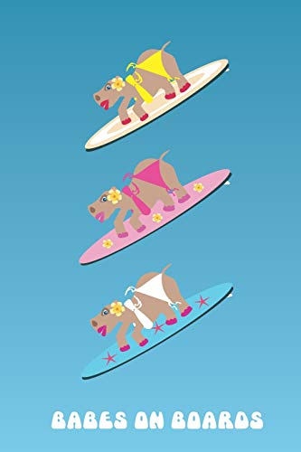 Hippo Babes on Boards Surfing Journal: Hawaiian style bikini clad hippos on surfboards make the cover of a lovely notebook to log all your epic ocean ... and wish lists for equipment essentials