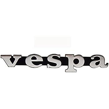 10470 TARGHETTA VESPA ADESIVA ANTERIORE VESPA LX GT PICCOLA RESINATA CROMATA