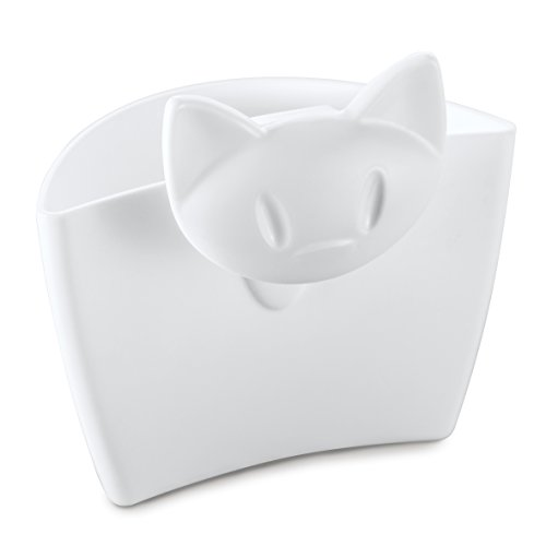 koziol Tassenutensilo Miaou, thermoplastischer Kunststoff, weiß, 5,7 x 7,2 x 7,2 cm