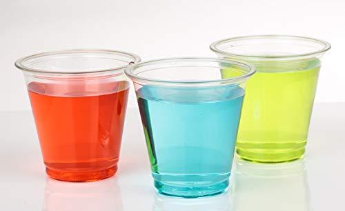 Golden Apple, 2oz clear plastic cups. Disposable Mini Cups, Plastic Shot Glasses, Jello Shot Party Tumblers