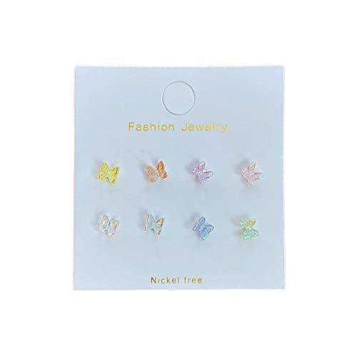 CHICMALL Pendientes de Mariposa Aurora Set Mujer 2021 Nuevos Pendientes Lindos de Corazón de Chica de Moda