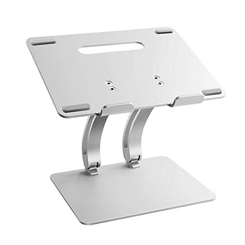 ZFFSC Notebook stand New Large Adjustable Laptop Stand with USB Hub Cooling Fan, Tablets Book Notebook Cooling Holder for MacBook Air/Pr. Notebook stand (Color : Silver)