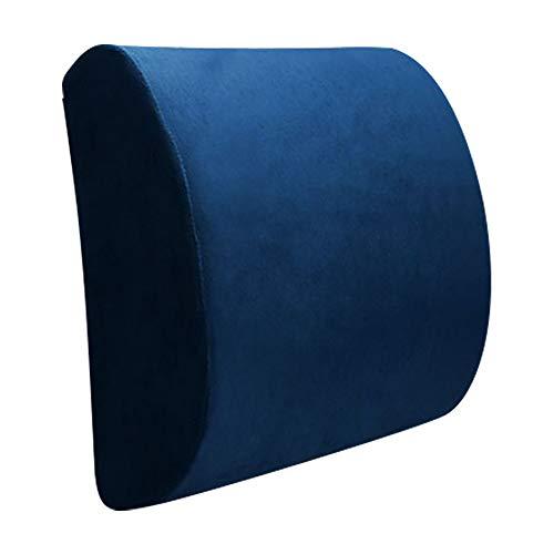 ChicSoleil Rückenkissen Autositz Memory-Schaum Lordosekissen zur Haltungskorrektur Stützkissen gegen Rückenschmerz 32x30x10cm 1 Stück