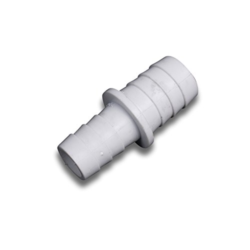 Bulk Hardware BH04066 Plastic Wasmachine Schaal Wasmachine Outlet Afvoerslang Connector, 17 x 22 mm - Wit, Pack van 1