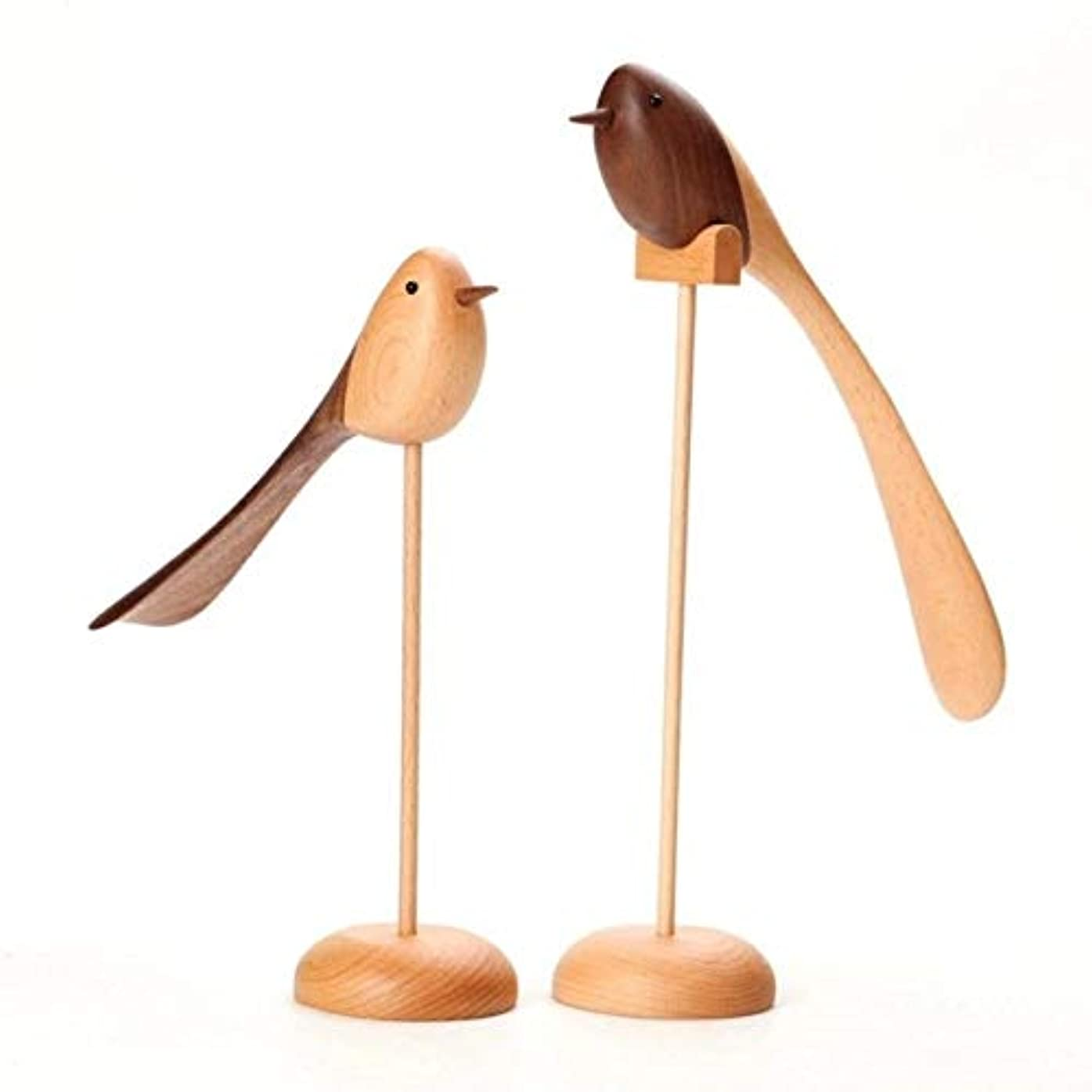カスタムイブぴかぴかCetengkeji シンプルなオリジナルの木製の鳥、リビングルームのテレビキャビネットの装飾、装飾家