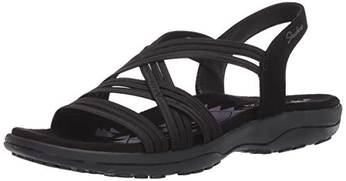 Skechers Women's Multi Strap Sandal Sport, Black, 10