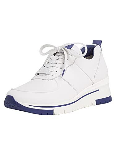 Tamaris 1-1-23745-24, Zapatillas Mujer, Blanco (White/Royal 126), 38 EU