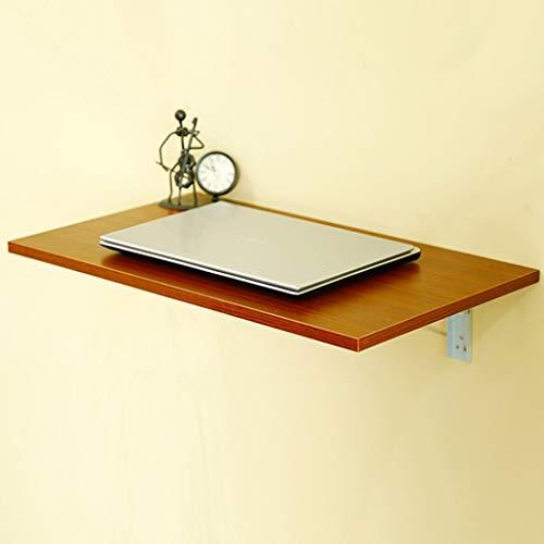 QQXX Klap Student Computer Schrijftafel Wand Massief houten keuken eettafel studie tafel (kleur teak kleur, grootte optioneel), wood100 * 40cm n6 N6